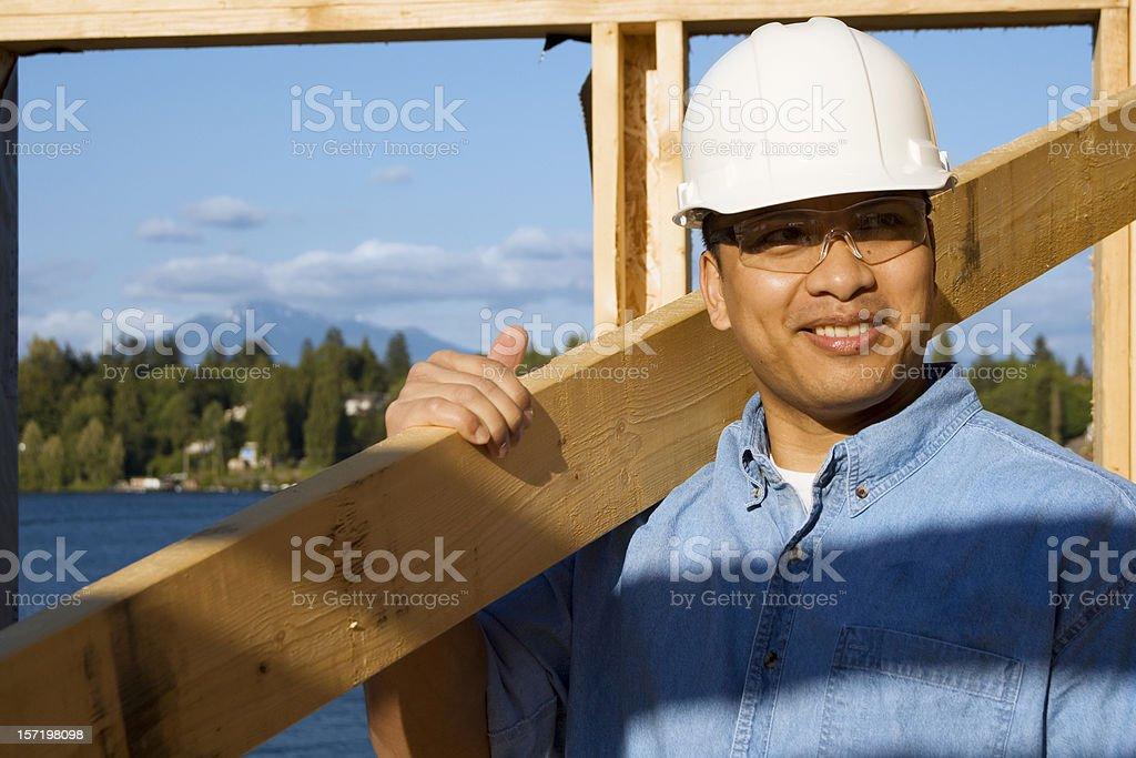 Confident construction man stock photo