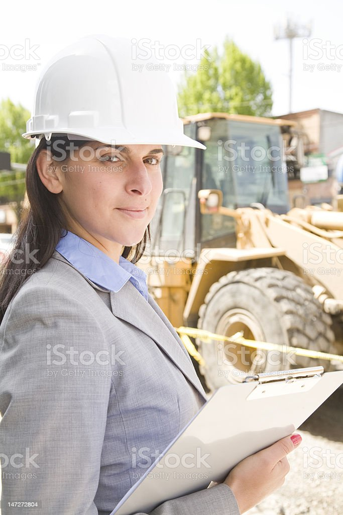 Confident Construction royalty-free stock photo