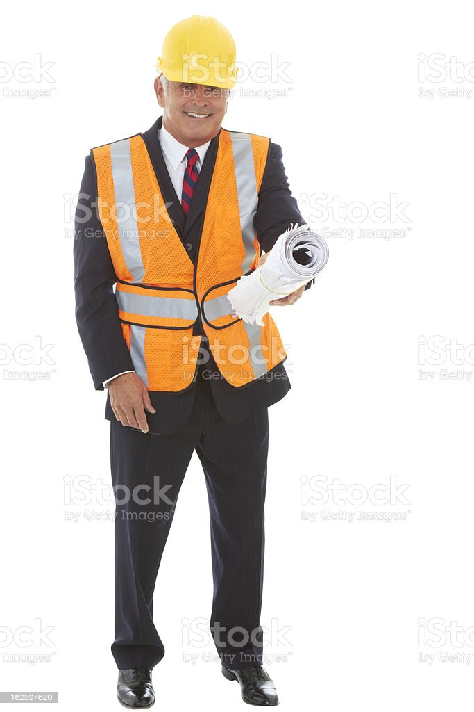 Confident Construction Worker royalty-free stock photo