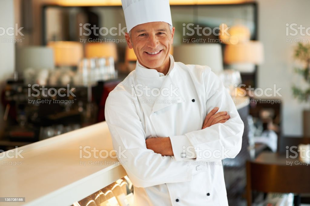 Confident cook smiling royalty-free stock photo