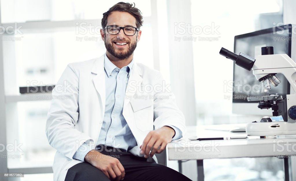 Zuversichtlicher Arzt ist ein guter Arzt Lizenzfreies stock-foto
