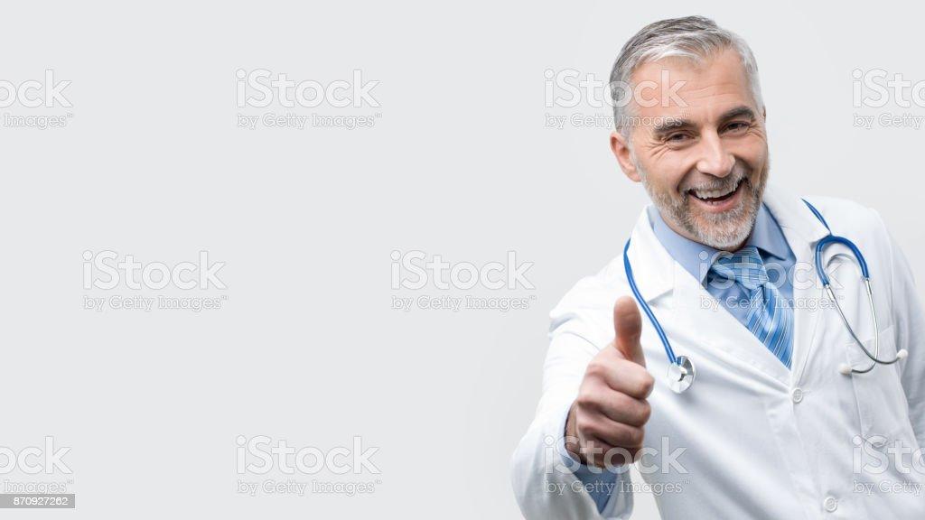 Confident doctor posing stock photo