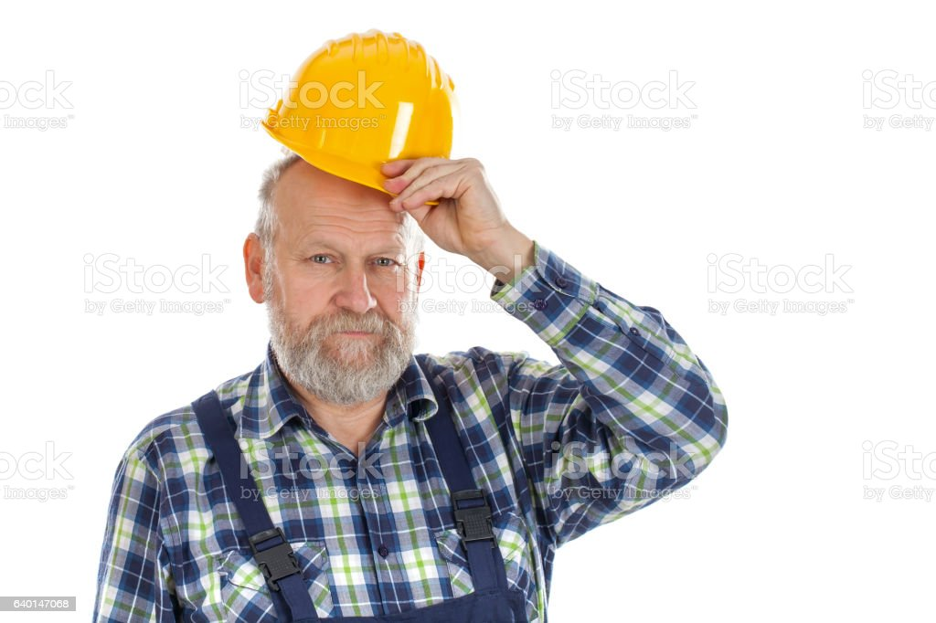 Confident engineer stock photo