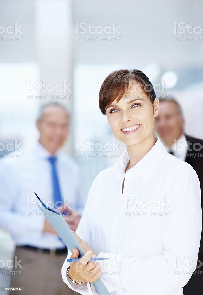 Confident executive with proposal royalty-free stock photo
