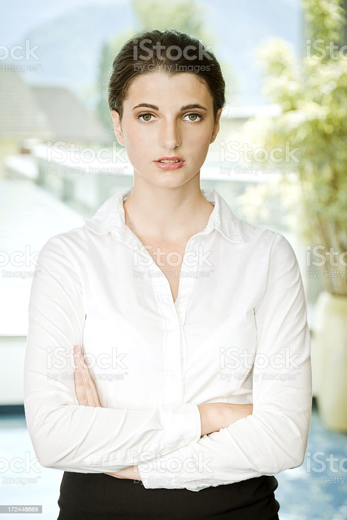 Confident Female Corporate Worker royalty-free stock photo
