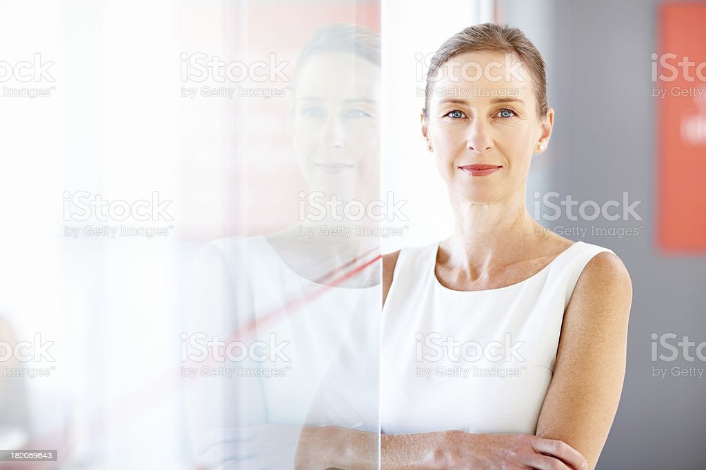 Confident Female Corporate Worker stock photo