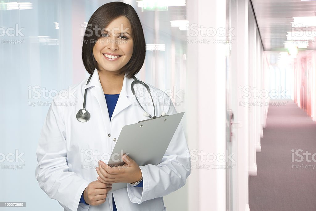 Confident Female Doctor At The Hospital royalty-free stock photo