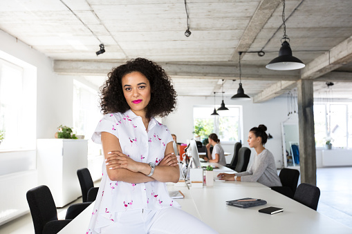 Confident Female Software Engineer In Modern Office Stock Photo - Download Image Now