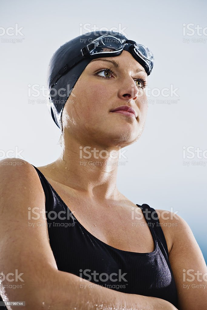 Confident Female Swimmer royalty-free stock photo