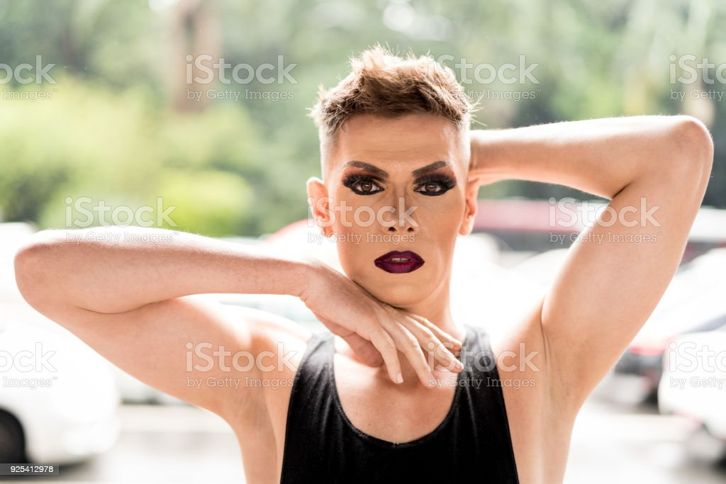 Confident Gay Boy stock photo