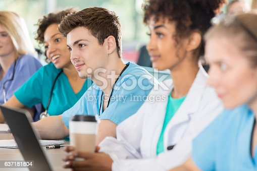 istock Confident group of diverse medical students 637181804