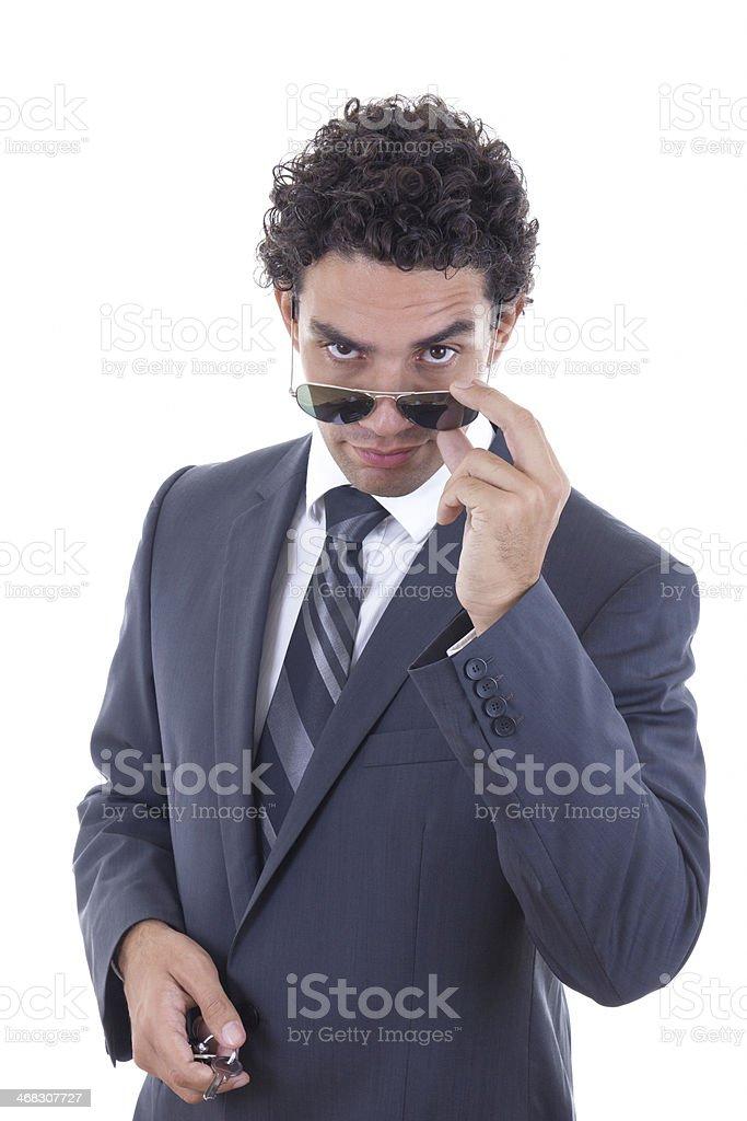 confident handsome businessman stock photo