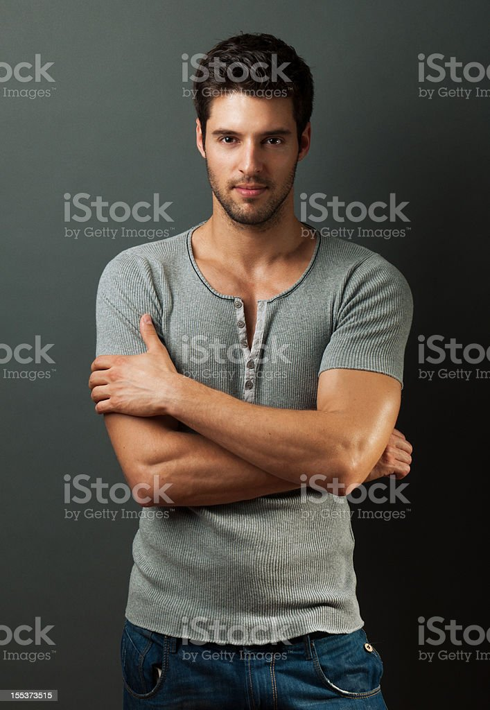 confident handsome man royalty-free stock photo