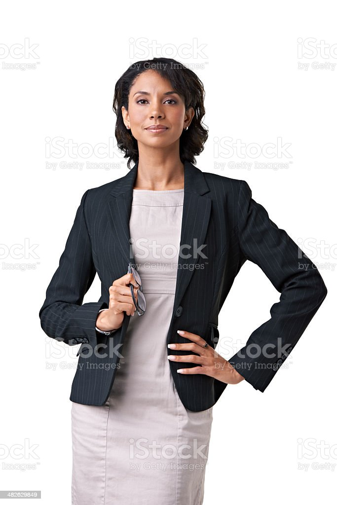 Confident her business acumen is sound stock photo