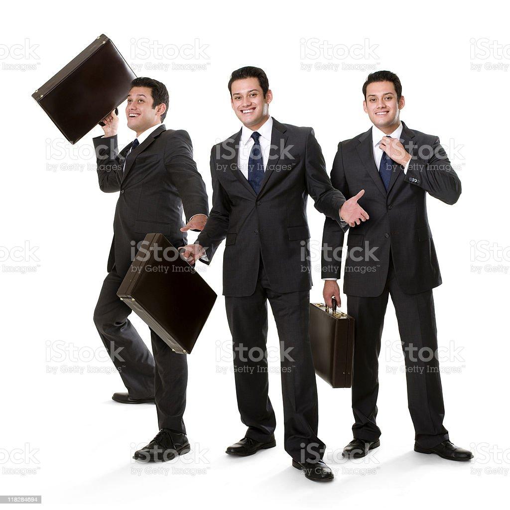 Confident HIspanic Executive Collage royalty-free stock photo