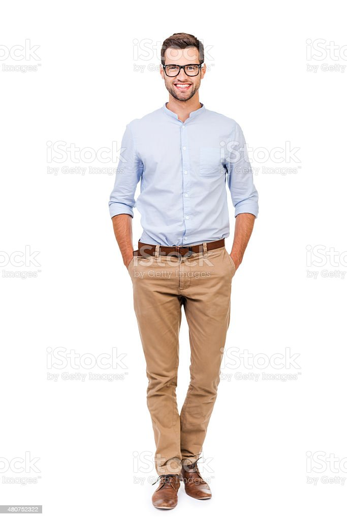 Confident in any situation. royalty-free stock photo