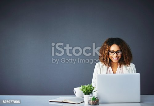 istock Confident in her abilities 876977896