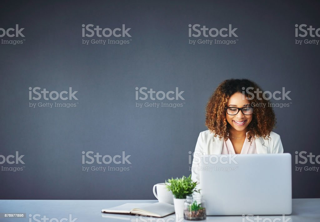 Confident in her abilities stock photo
