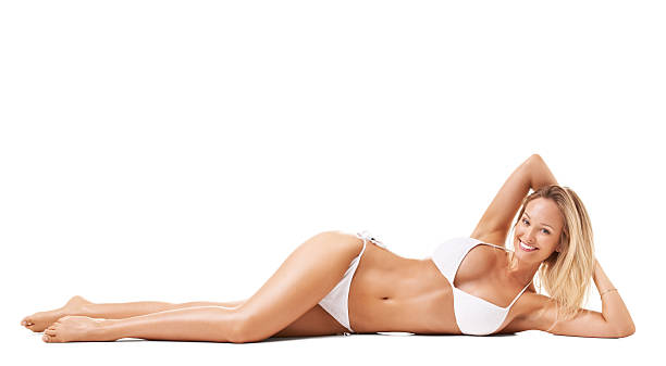 Confident in her bikini stock photo