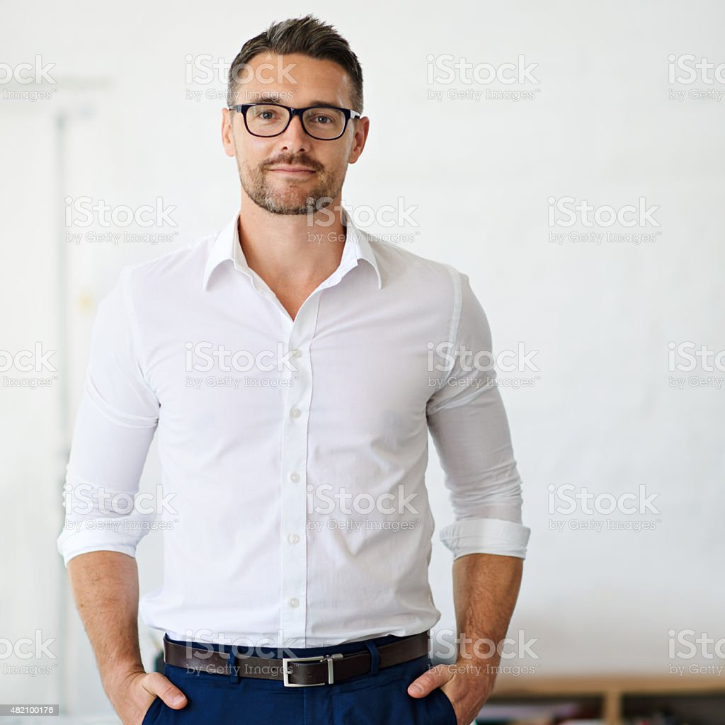 Confident in his business ability stock photo