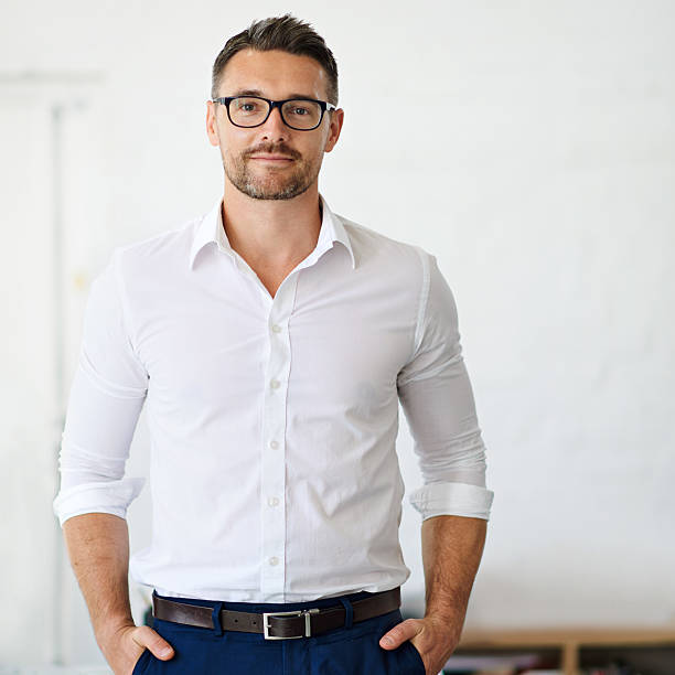 confident in his business ability - one young man only stock photos and pictures