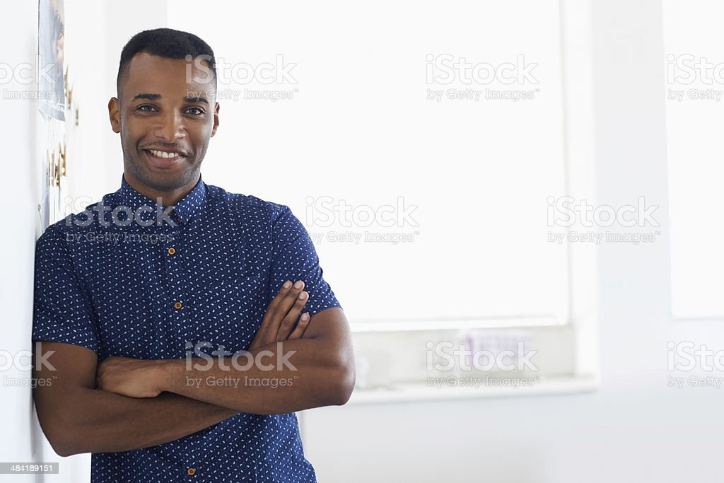 Confident in his design abilities stock photo