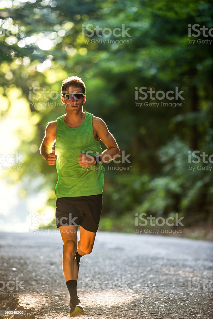 Confident in his fitness regime royalty-free stock photo