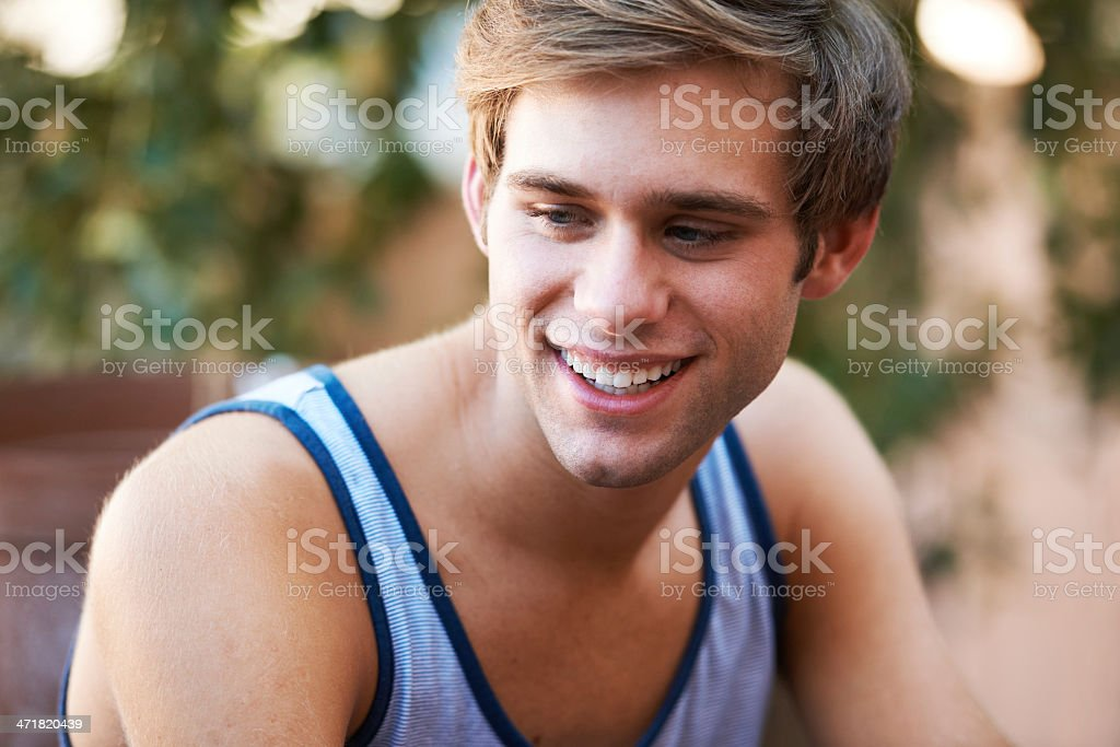 Confident in his style royalty-free stock photo
