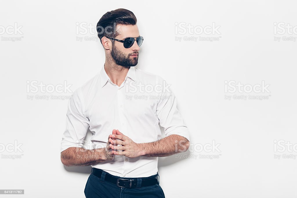 Confident in his style. royalty-free stock photo