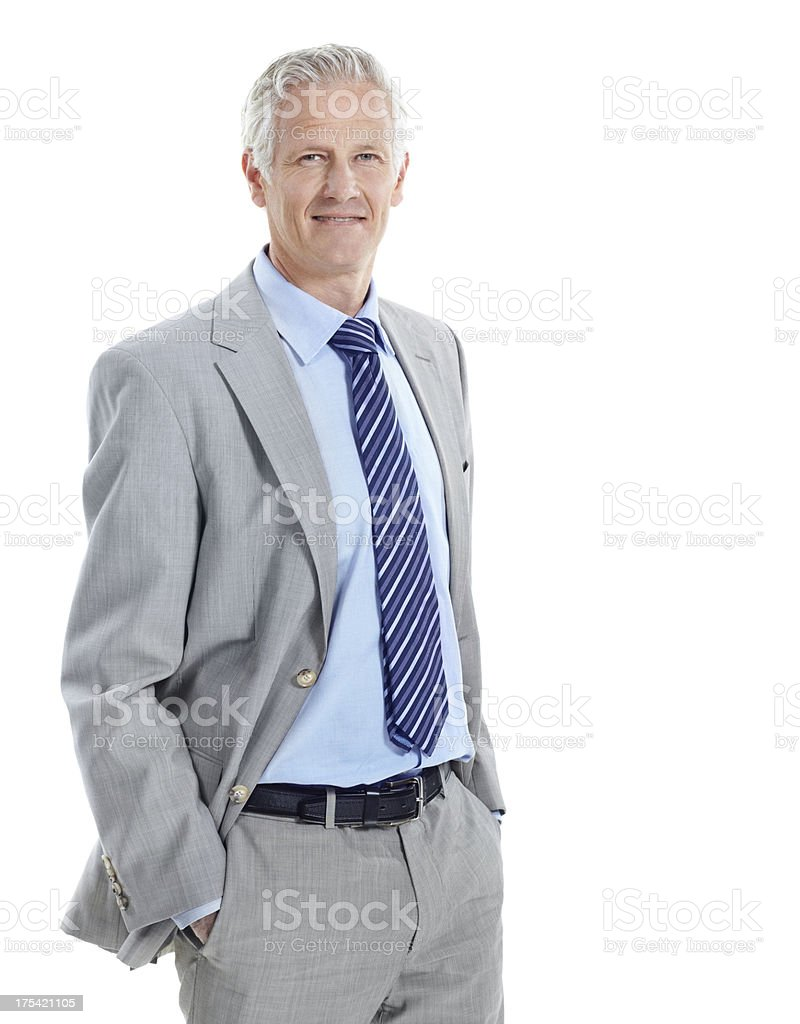 Confident in his years of invaluable experience stock photo