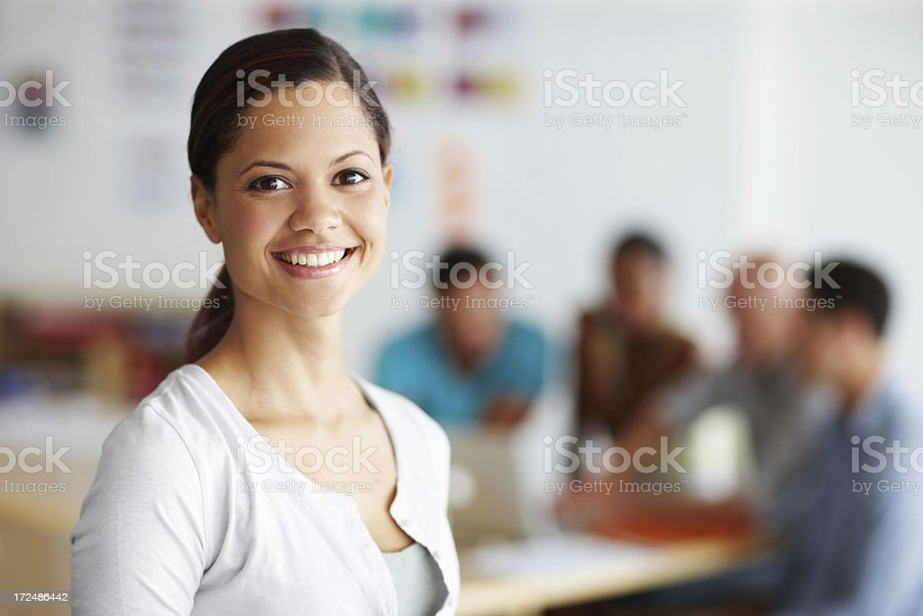 Confident in my team's abilities royalty-free stock photo
