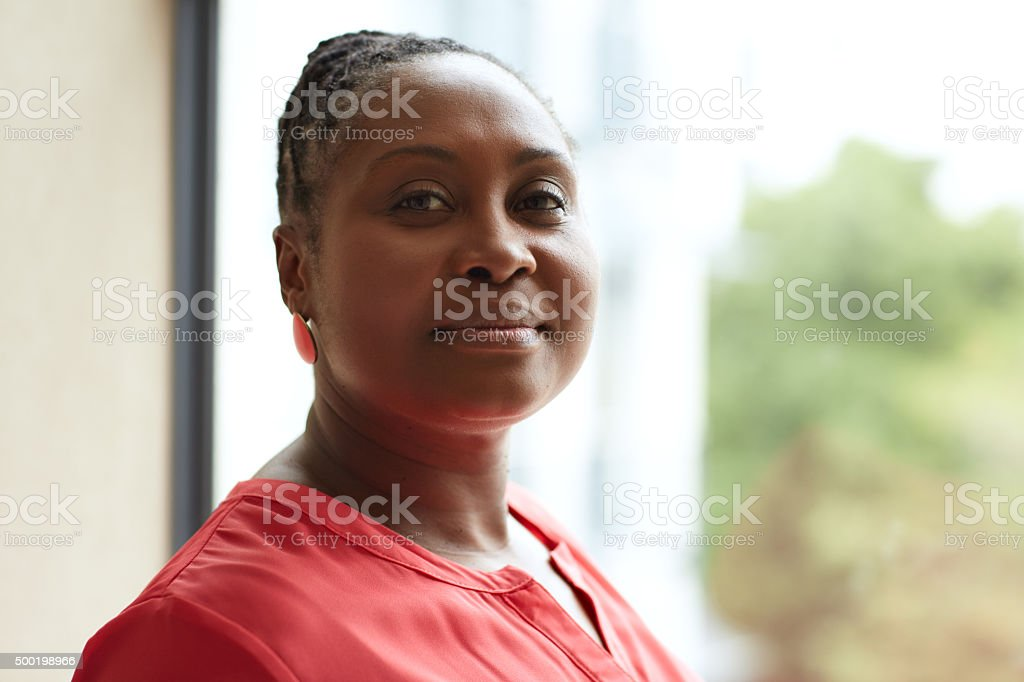 Confident in the experience I bring to my business stock photo