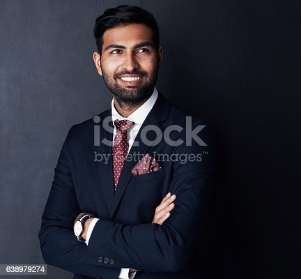 istock Confident in the quality of his decision making skills 638979274