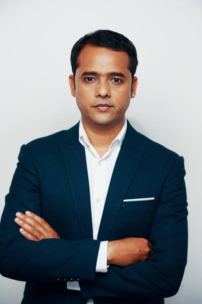 Confident Indian businessman stock photo