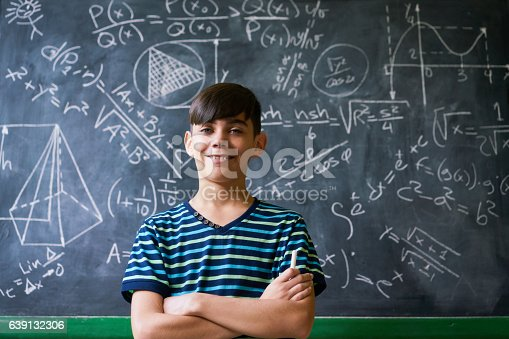 istock Confident Latino Boy Smiling At Camera During Math Lesson 639132306