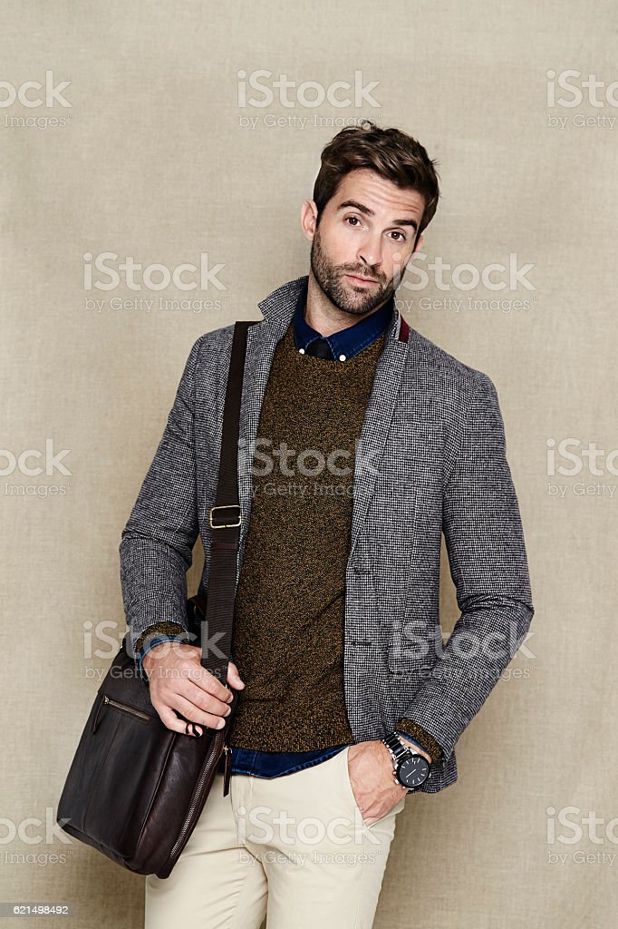 Confident man in blazer looking at camera foto stock royalty-free