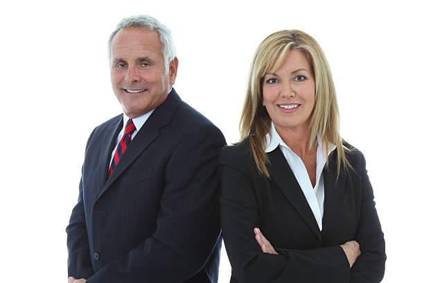 Confident Mature Business Couple stock photo
