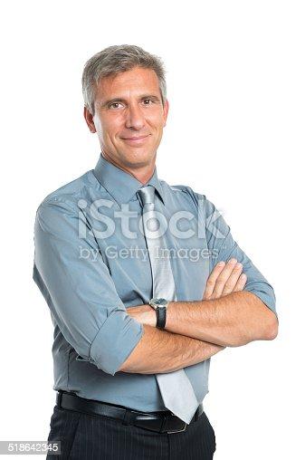 istock Confident Mature Businessman 518642345