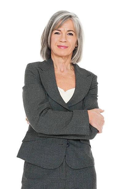 confident mature businesswoman - mature women studio grey hair bildbanksfoton och bilder
