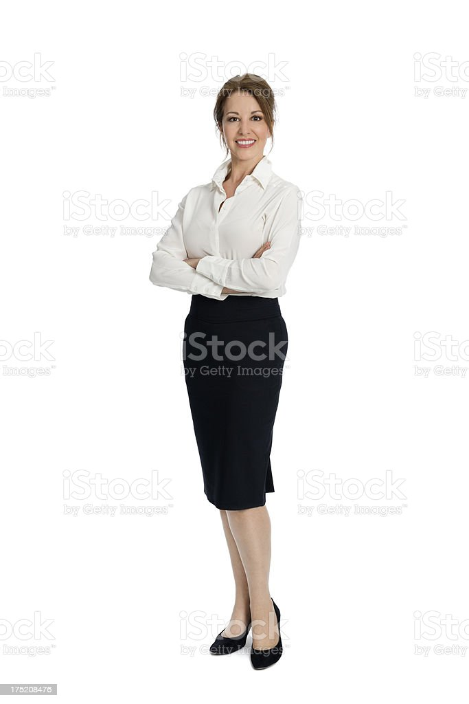 Confident Mature Businesswoman With Arms Crossed royalty-free stock photo
