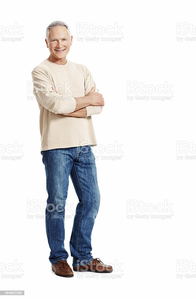 Confident mature man royalty-free stock photo
