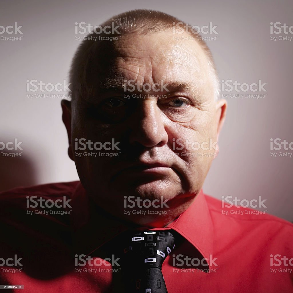 Confident mature man stock photo