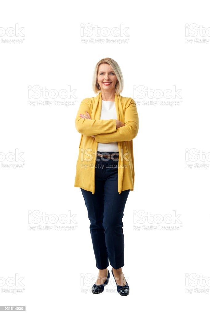 Portrait de femme d'âge mûr confiant - Photo