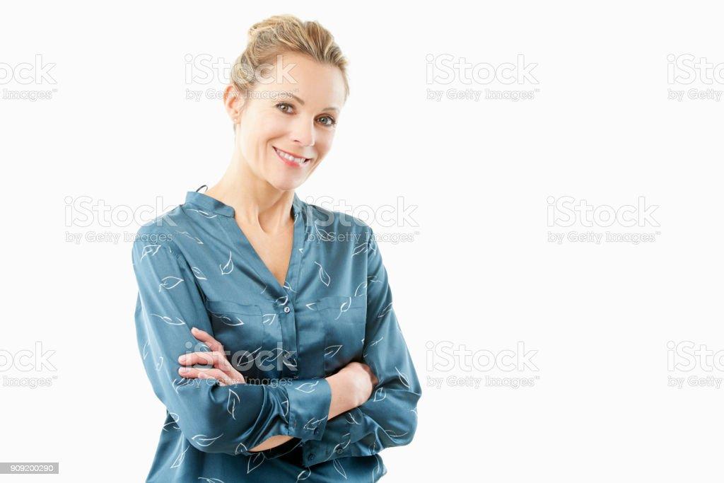 Femme d'âge mûr confiant portriat - Photo