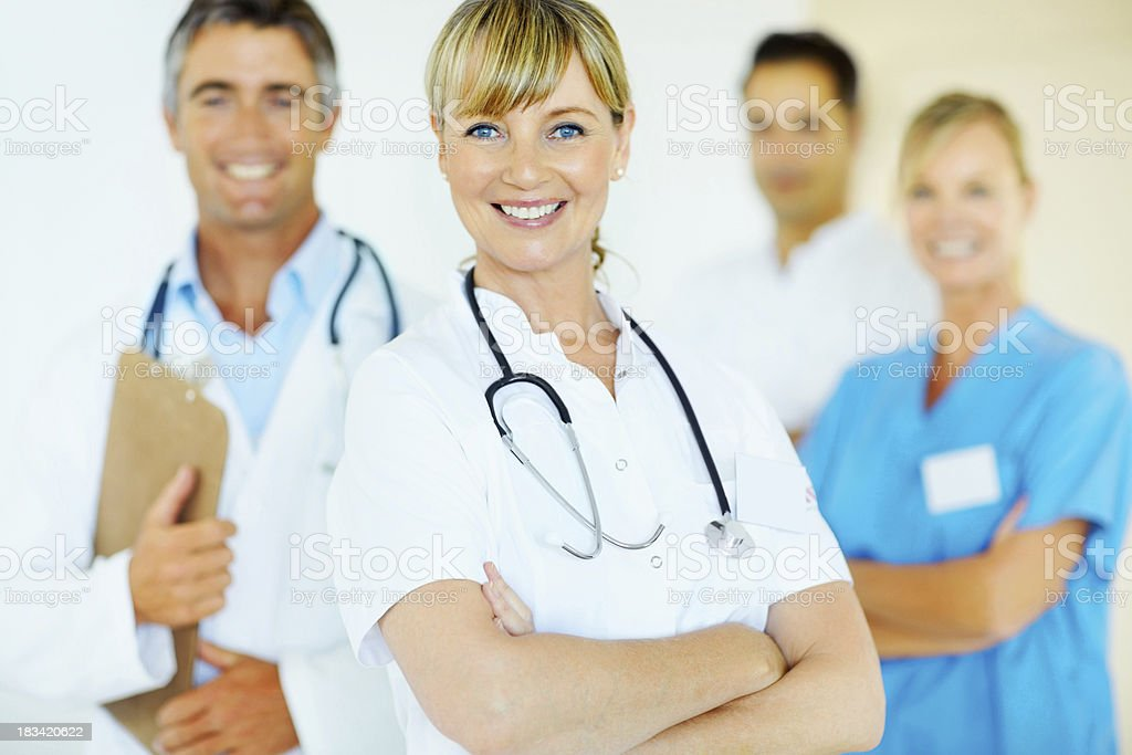 Confident medical team royalty-free stock photo
