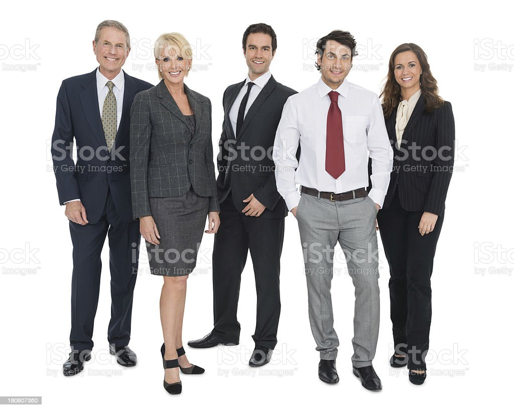Confident Multi-Ethnic Business People Standing Together stock photo