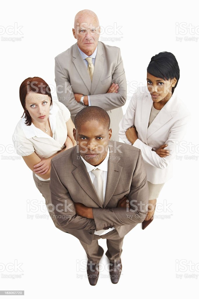 Confident multiracial business people standing with arms crossed royalty-free stock photo