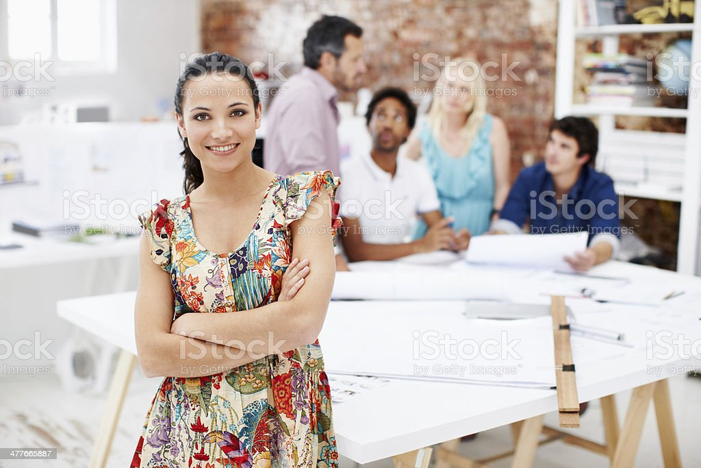 Confident my team will get the job done royalty-free stock photo