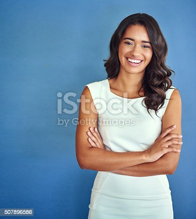 istock Confident of her place in the business world 507896586