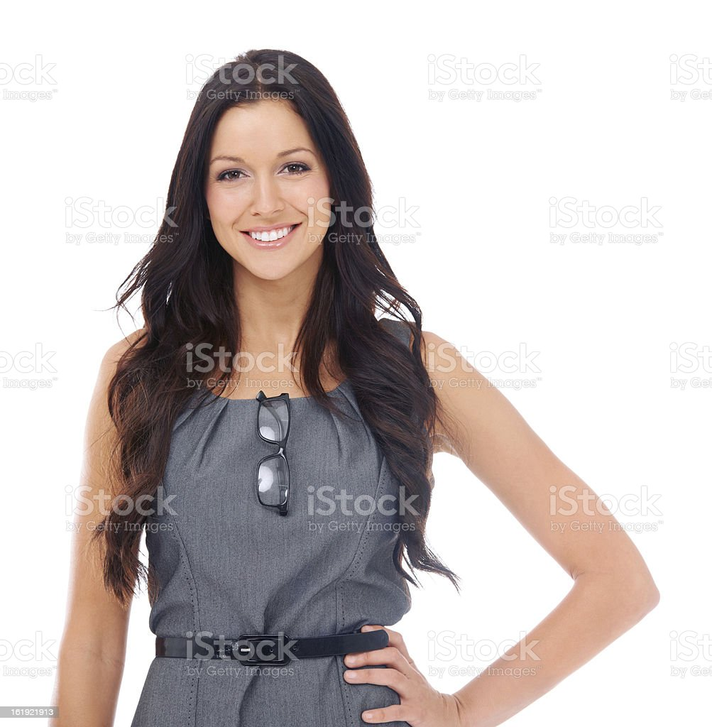 Confident of her skills in the businessworld stock photo